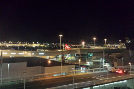 Sydney Airport at night