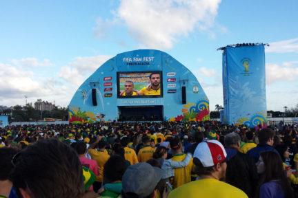 Brazil match at Fan Fest