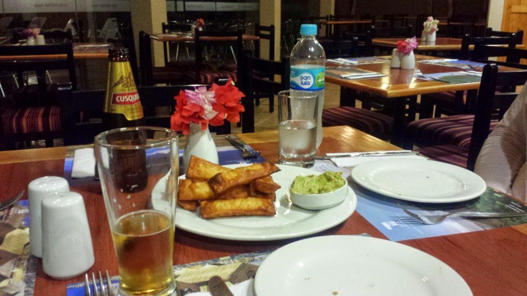 Dining at hotel in Nazca