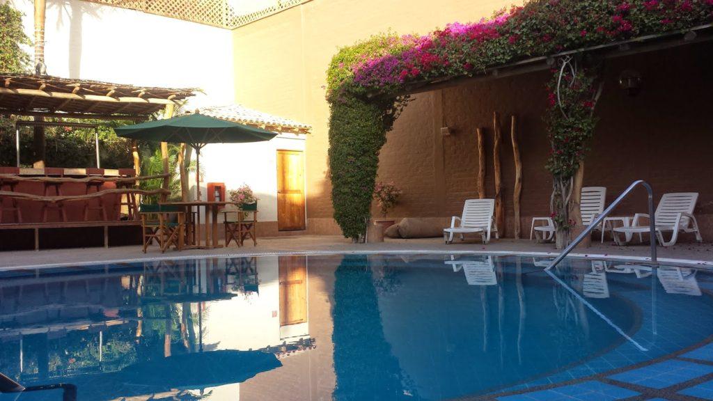 Hotel pool in Nasca