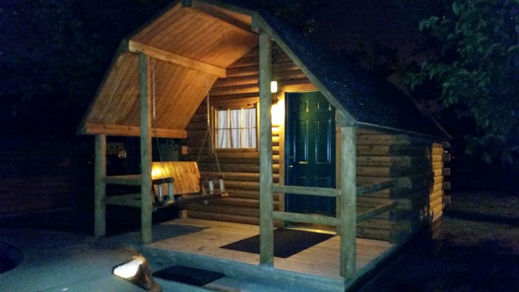 Amarillo Cabin at Night