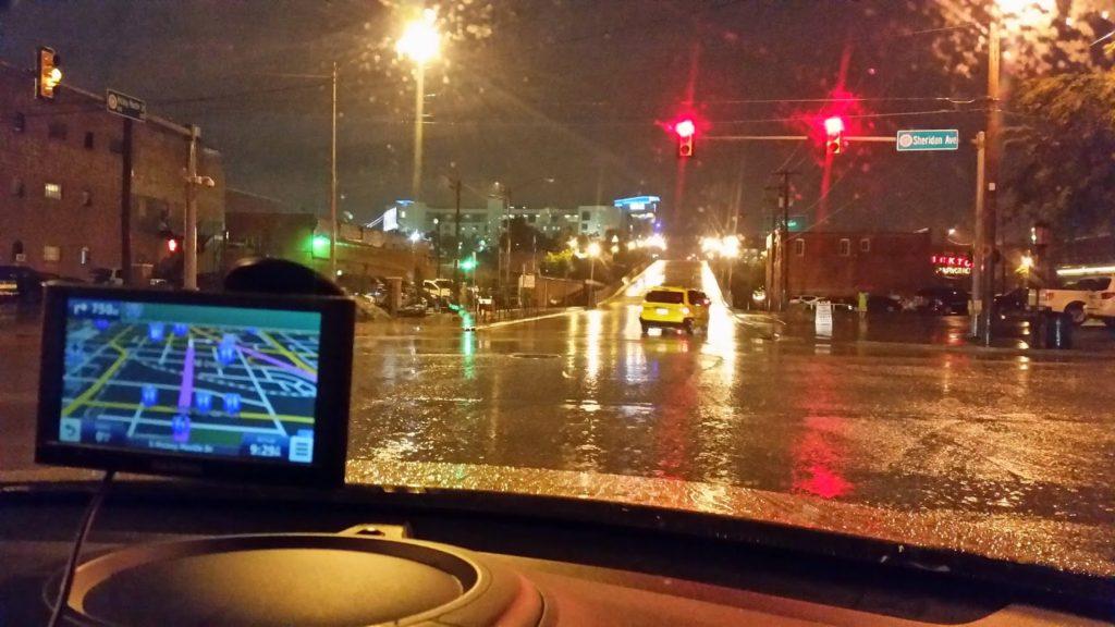 Raining in Oklahoma City