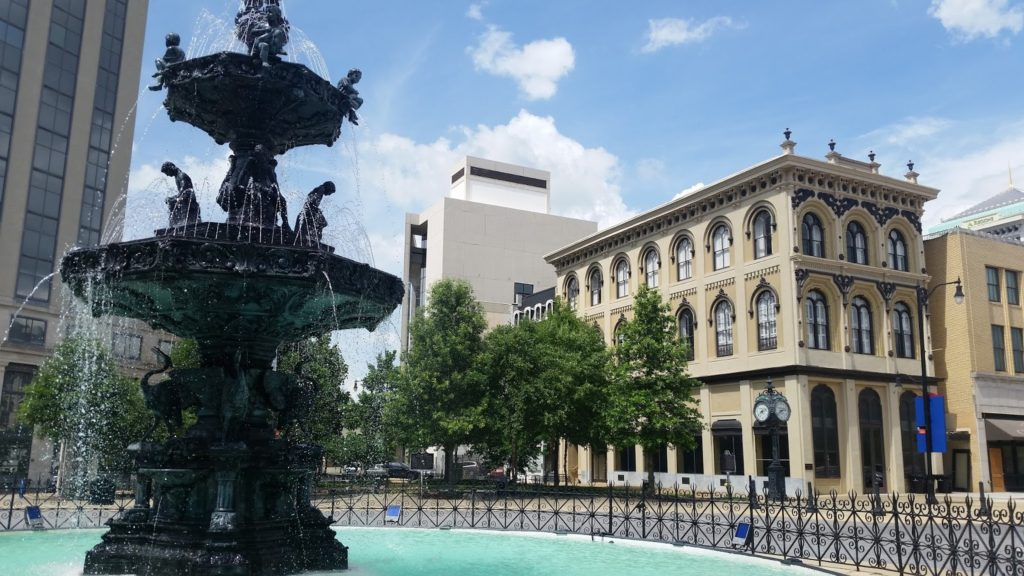 Rosa Parks Fountain