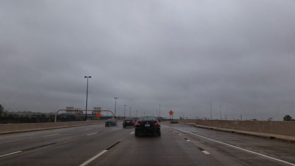 Wet roads in Oklahoma
