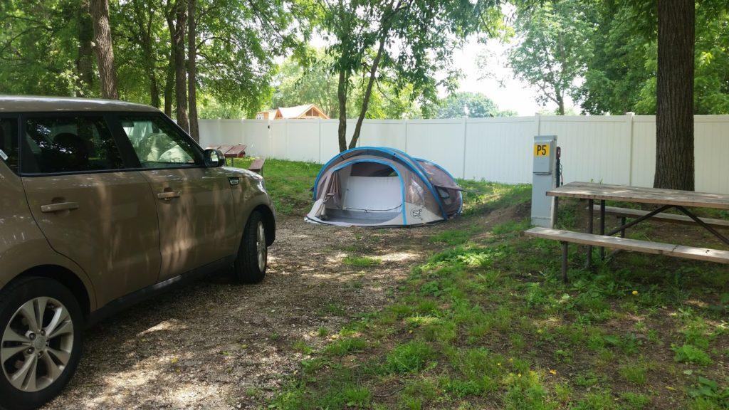 Nashville KOA tent