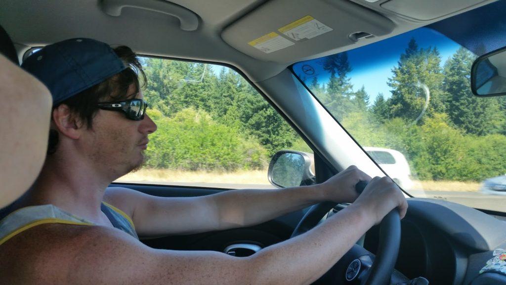 Adam driving Seattle