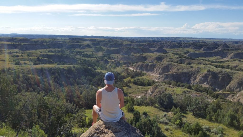 Adam enjoying the view