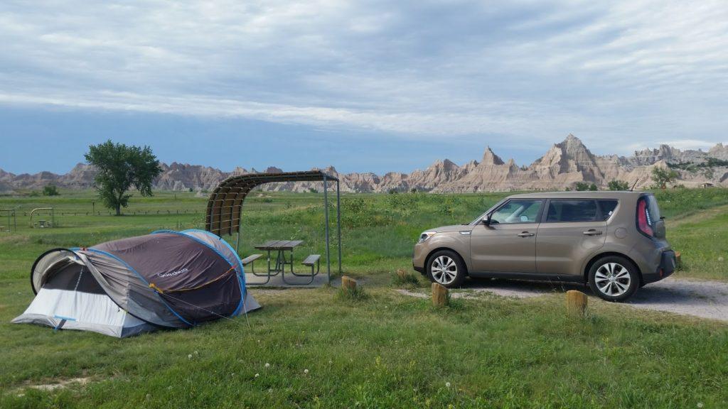 Cedar Pass campsite