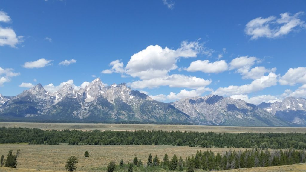 Driving out of Yellowstone