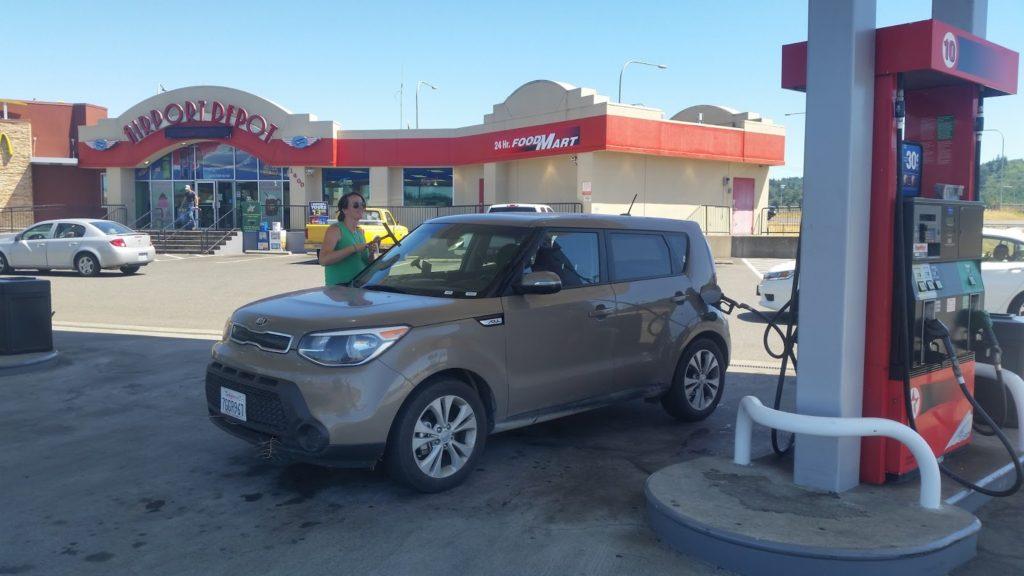 Filling up petrol