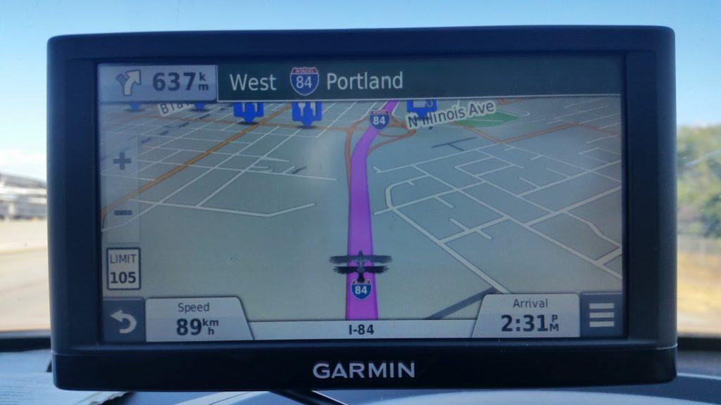 GPS to Portland