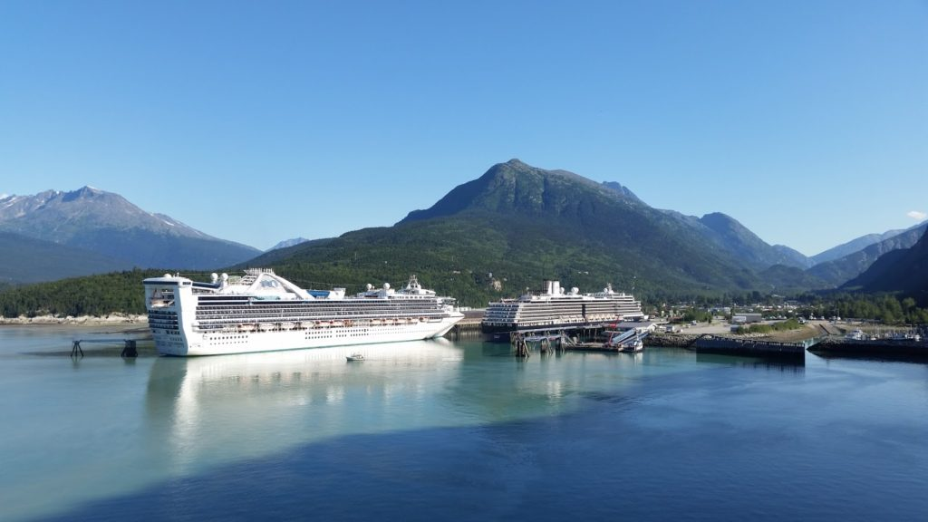 Our home docked in Skagway