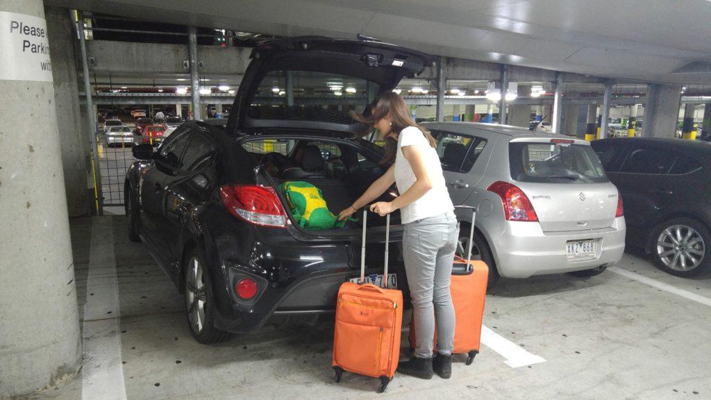 Unpacking car in Melbourne