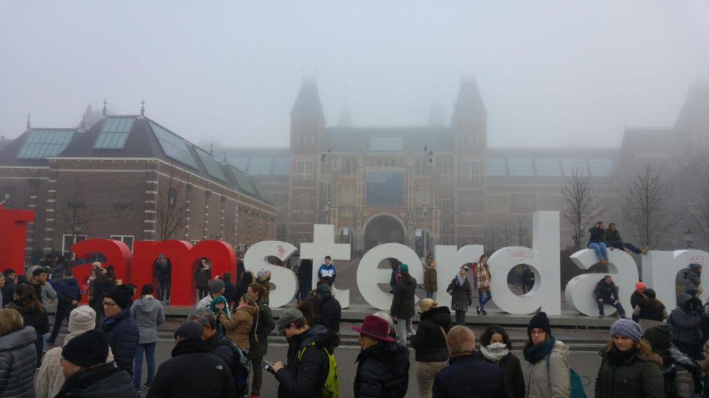 I Am Amsterdam sculpture