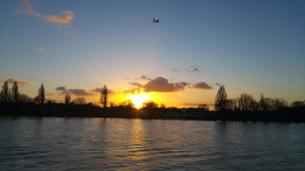 Craven Cottage sunset