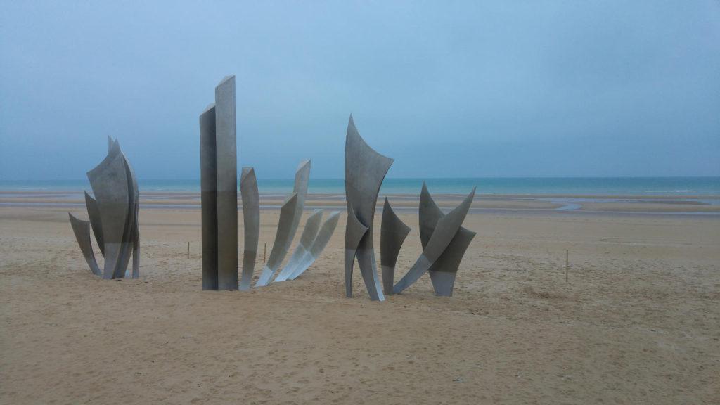 Normandy Omaha Beach memorial