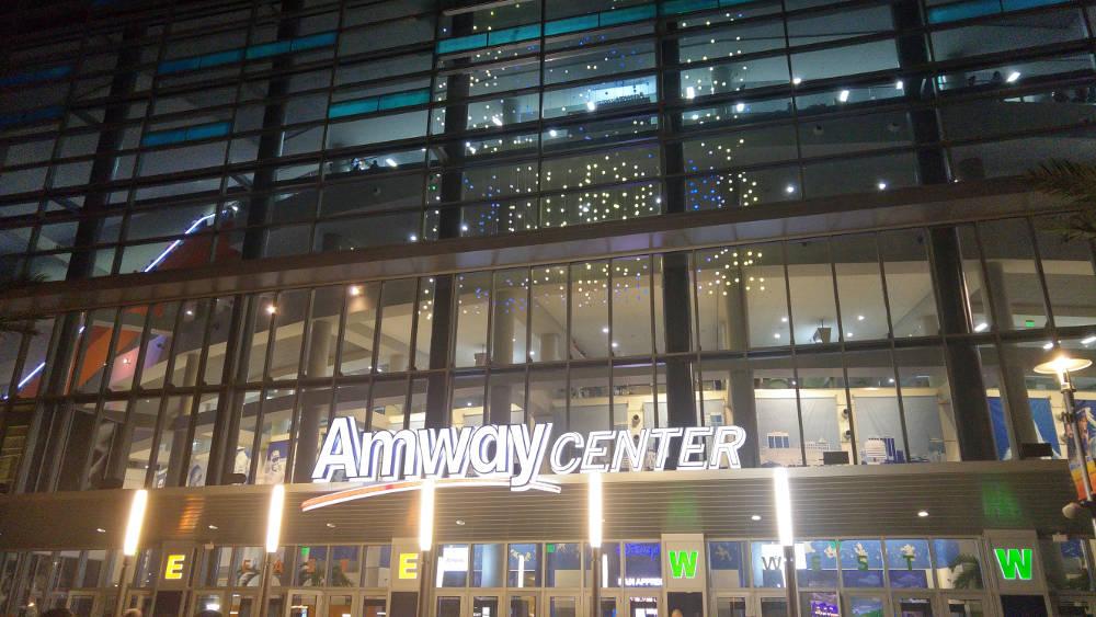 Amway Center at Night