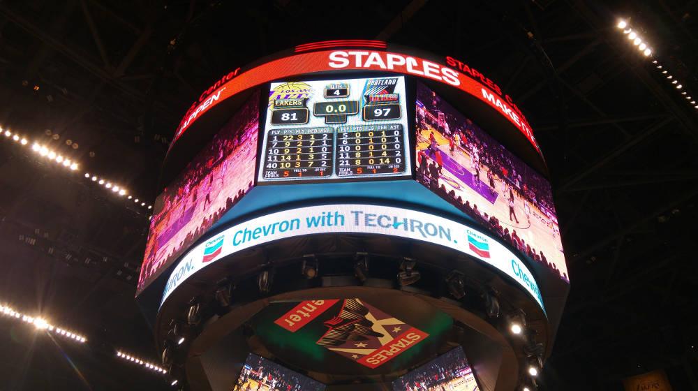 Lakers Blazers score