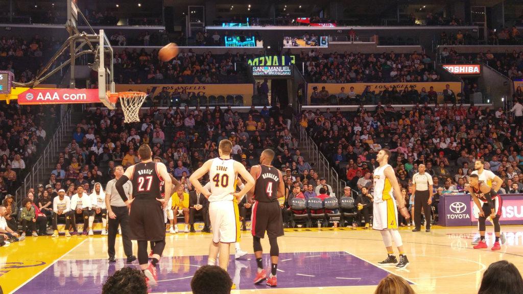LA Lakers courtside