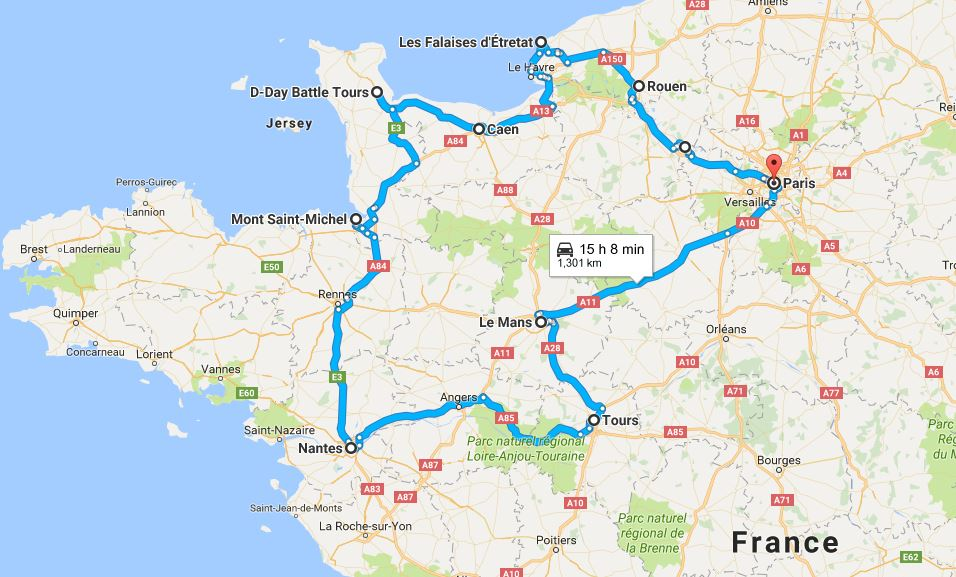 Normandy Road Trip