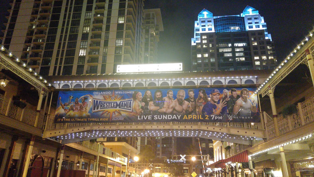 Orlando downtown Wrestlemania