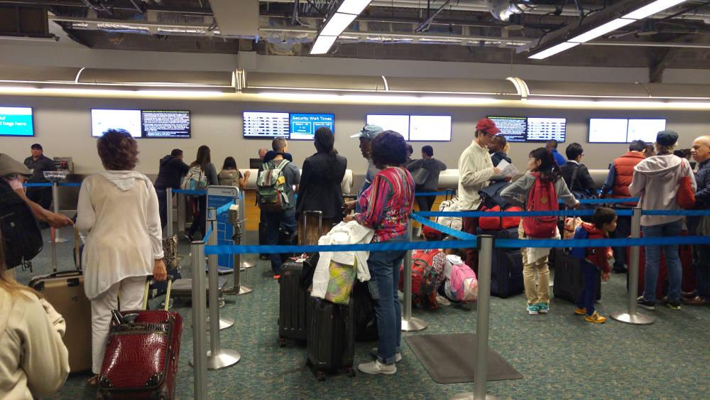 Orlando airport queue