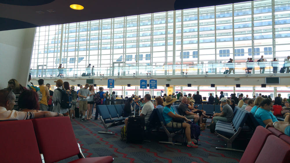 Carnival Cruise check in queue