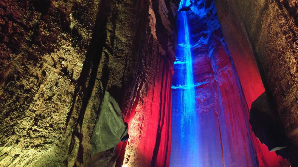 Ruby Falls waterfall