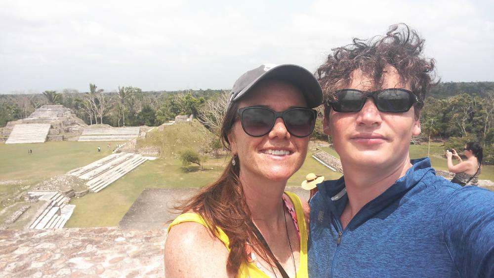 Belize ruins selfie