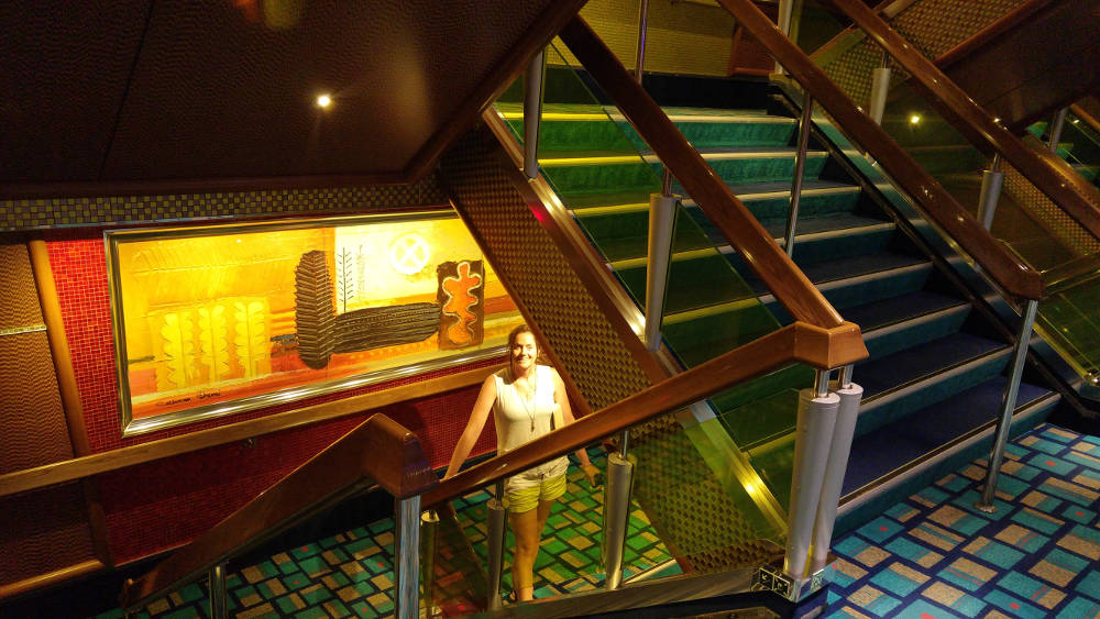 Carnival Glory stairs
