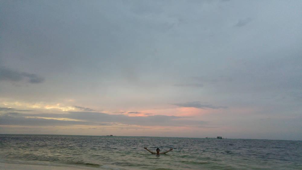 Bavaro Beach swimming