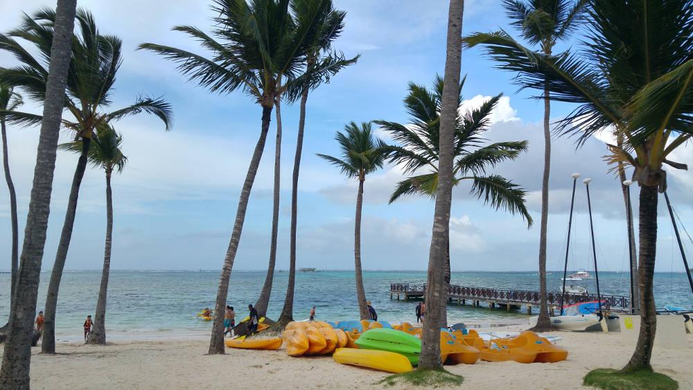 Kayaks at Bavaro Beach