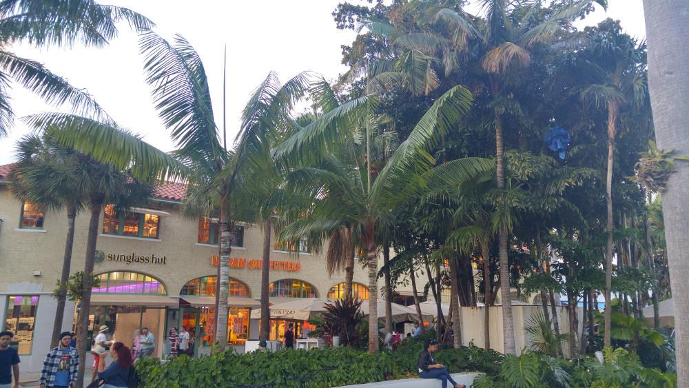 Miami shopping street