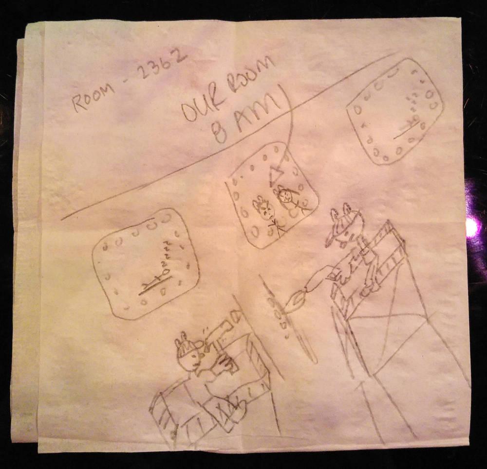 Piano bar drawing