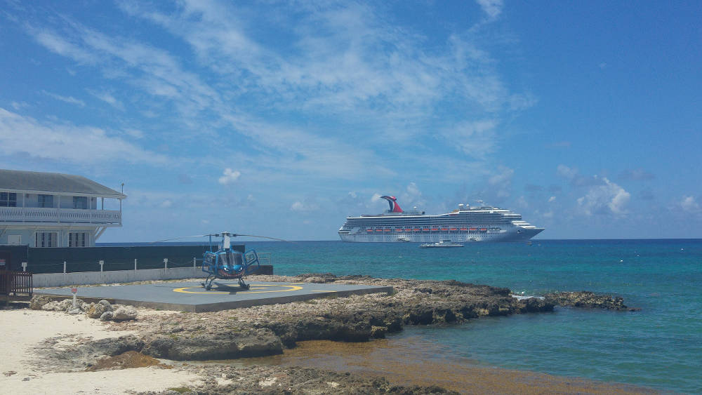 Helicopter on Grand Cayman Islands