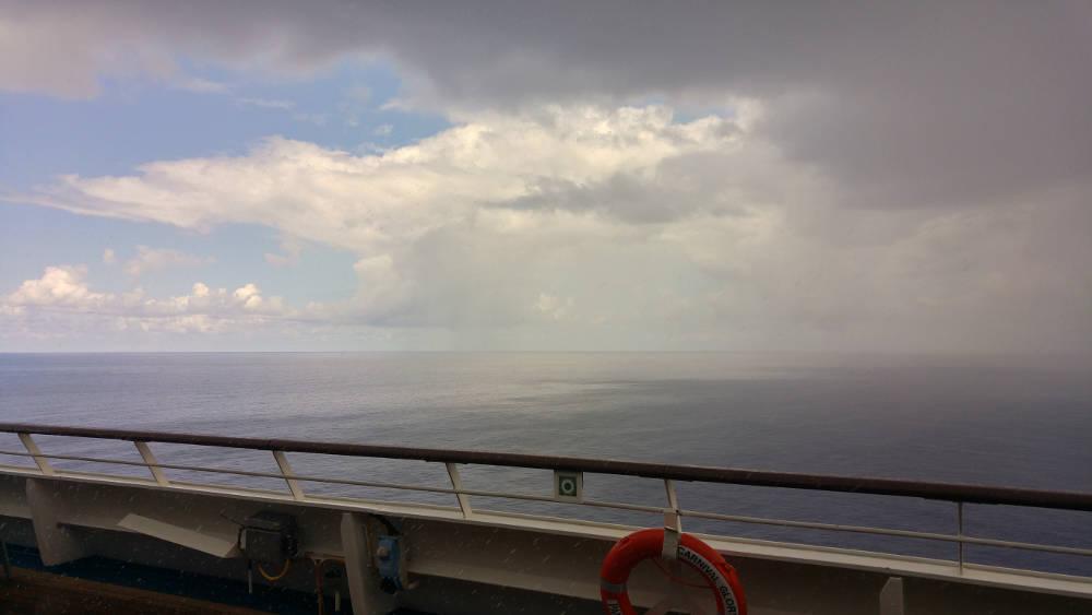 Storm coming at sea