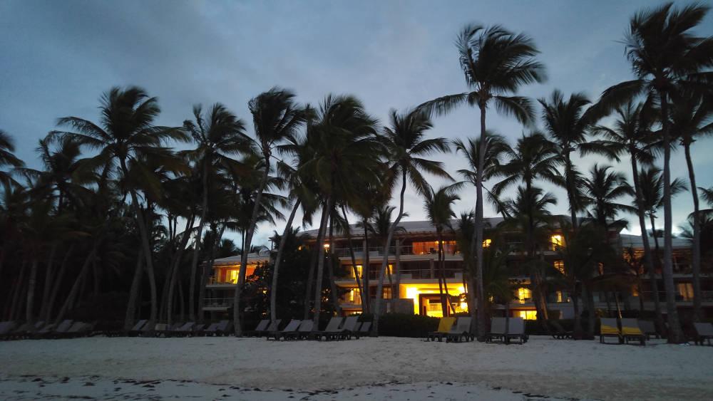 Bavaro Beach suite at night
