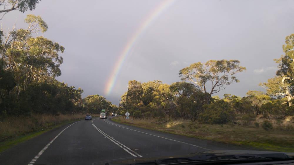 Rainbow road truck