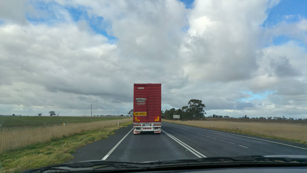 Slow truck in Adelaide