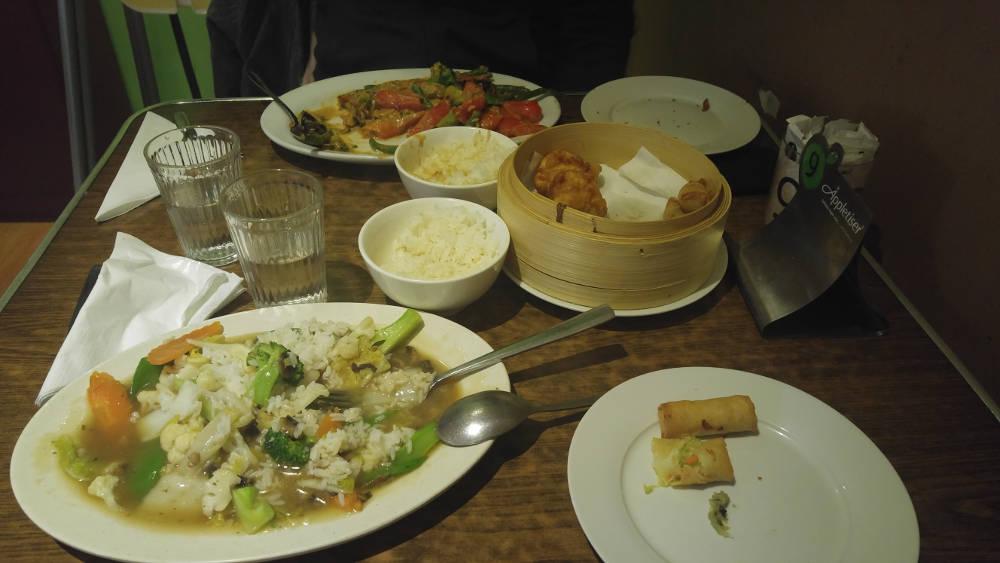 Zenhouse Vegetarian meal