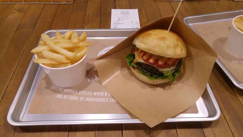 Vegan burger at Ripple