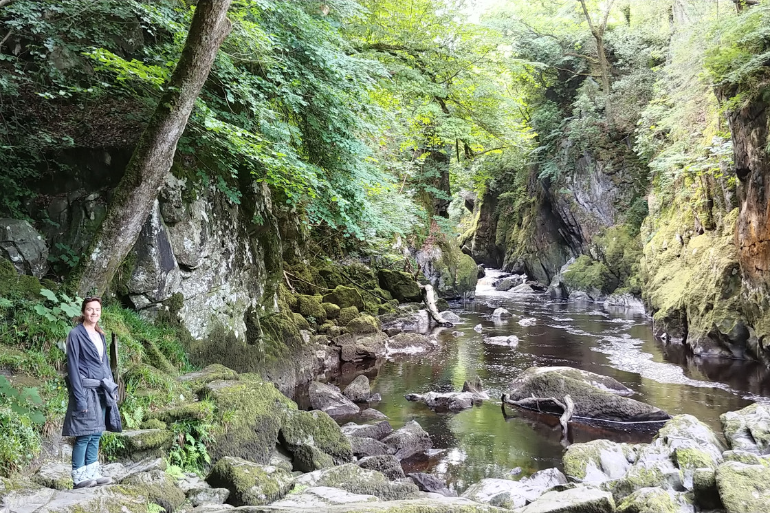 Linda at Fairy Glen