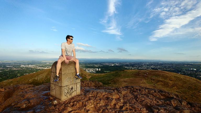Adam on Arthurs Seat