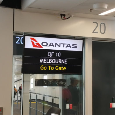 QF10 to Melbourne