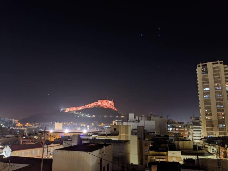 Alicante view at night