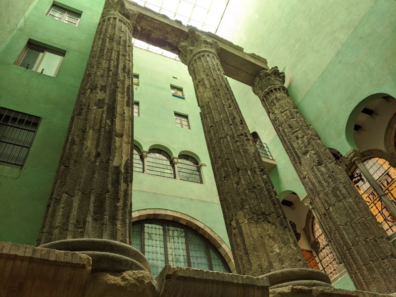 Barcelona old ruins