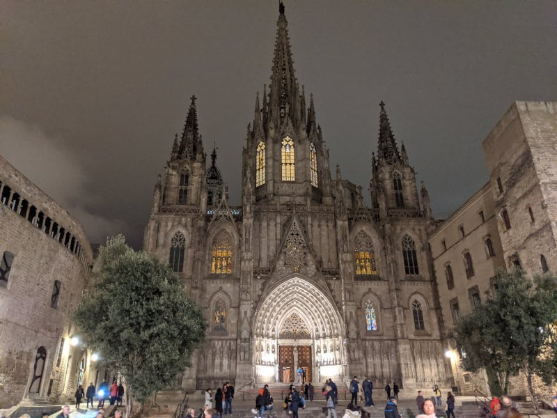 Gothic Temple in Barcelona