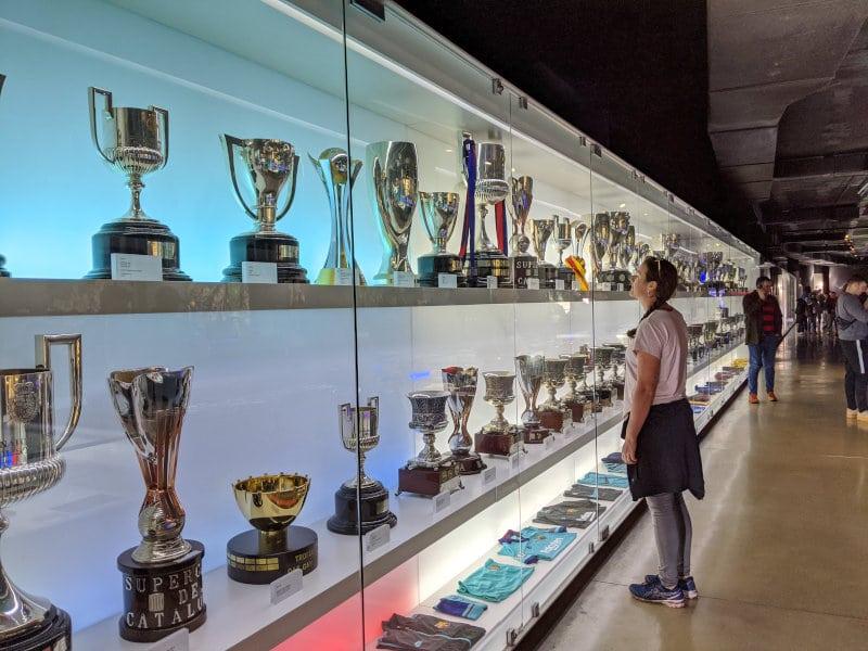 Linnie Barcelona trophies