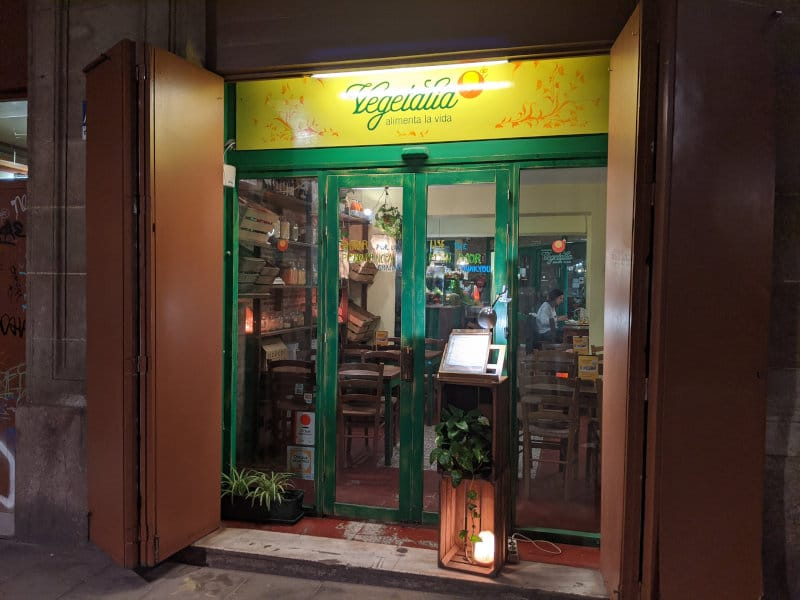 Vegetarian restaurant Barcelona