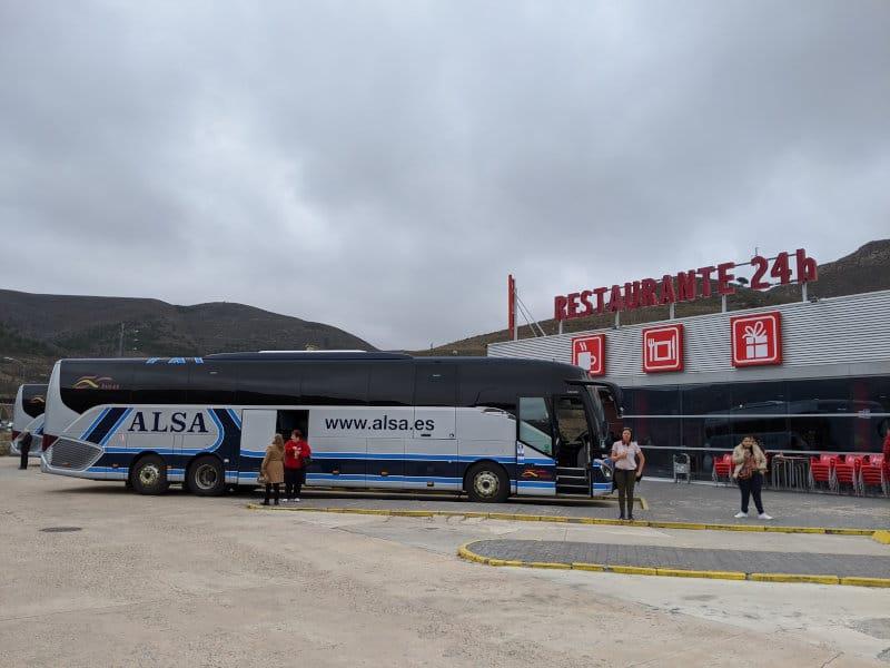 Zaragoza bus trip